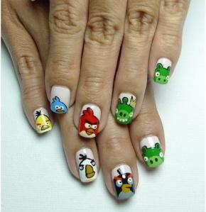 nail art Angry Birds de MTheGoddess 33
