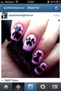 nail art cats de Siedah Rogers