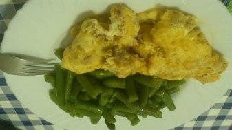 Tortilla francesca y verduras