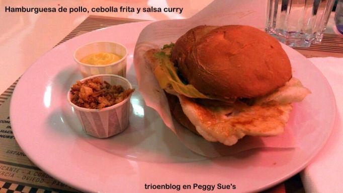 hamburguesa pollo Peggy Sue's