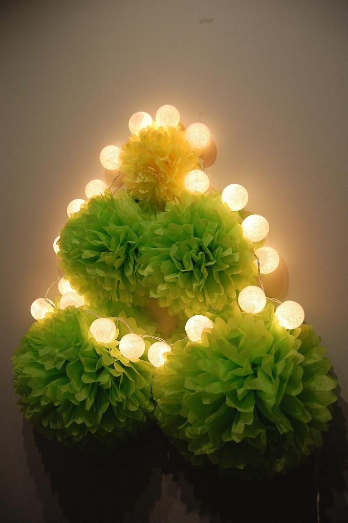 arbol navidad pompon