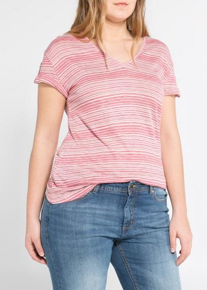 camiseta rayas lino