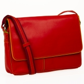 Flapover office shoulder bag
