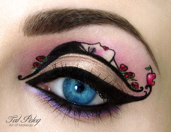 eye art snow white