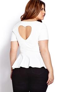 Forever21 camiseta corazon detras