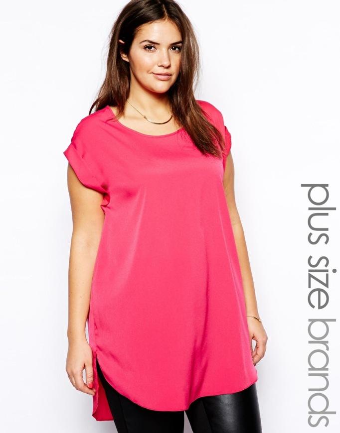 camiseta rosa plus size Asos