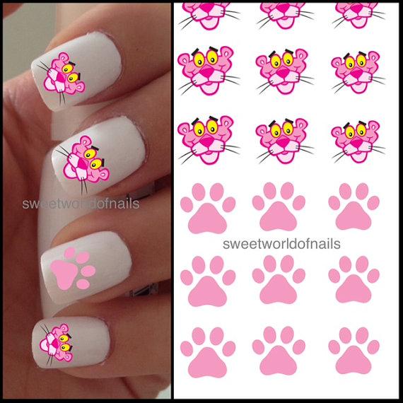 pantera rosa nails