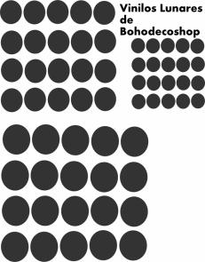 Vinilo_Circulos_negros de Bohodecoshop