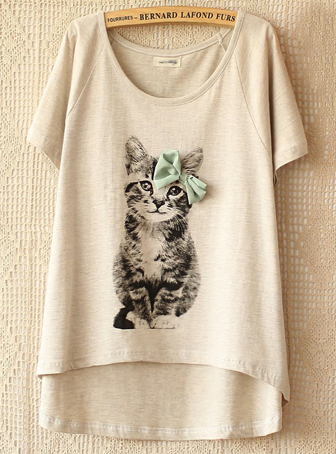 camiseta cat de Sheinside