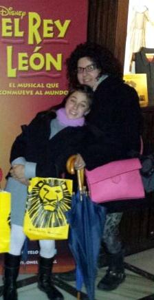 bolso rosa en El Rey León