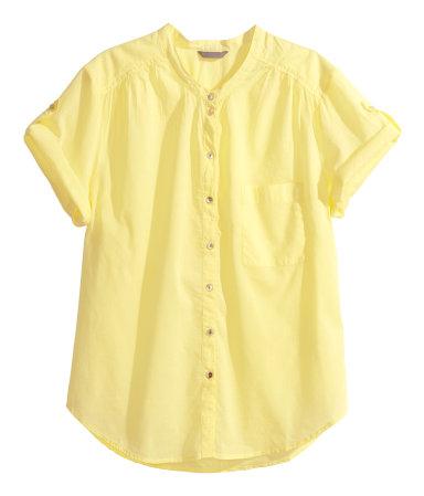 camisa amarilla de H&M