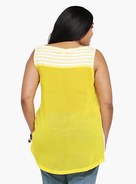 camiseta gasa amarilla Torrid