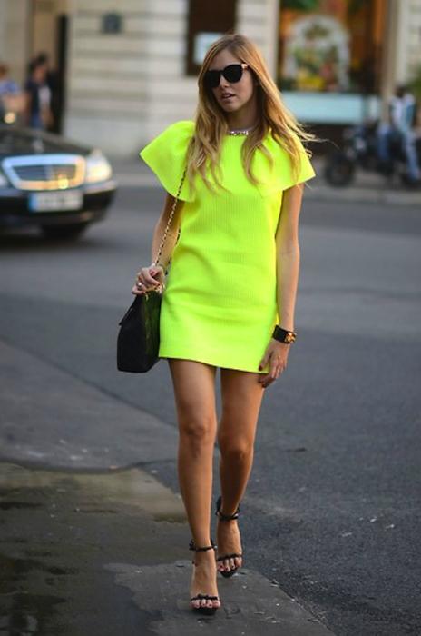 yellow neon dress