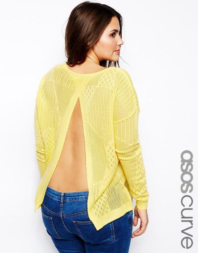 jersey amarillo abertura trasera