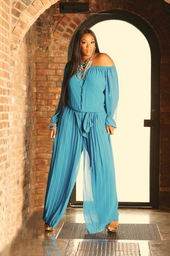 jumpsuit blue plus size
