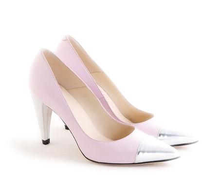 zapato puntera plateada