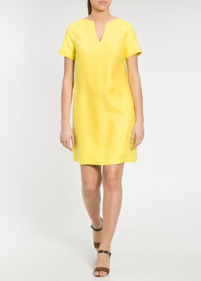 vestido lino amarillo Violeta