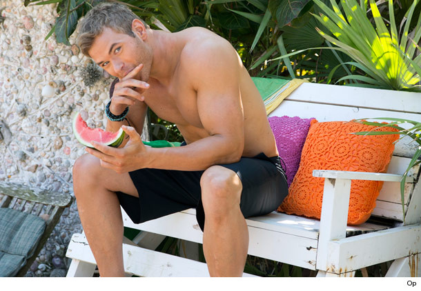 Kellan Lutz watermelon