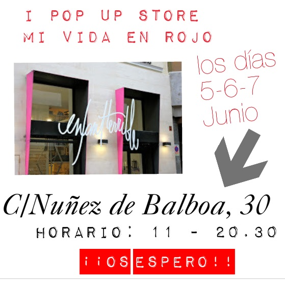 pop up store mi vida en rojo