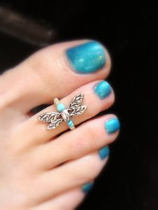 anillo dedo pie