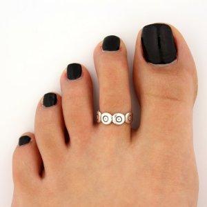 anillo pie plata