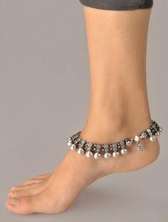 tobillera perlas