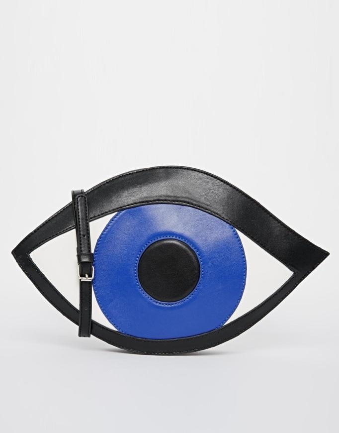 bolso forma de ojo