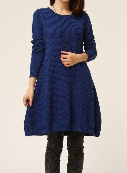 jersey vestido plus size azul