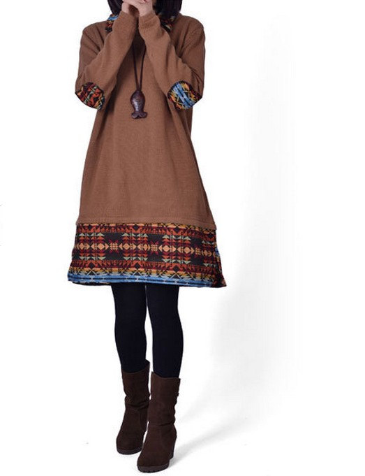 jersey vestido etnico