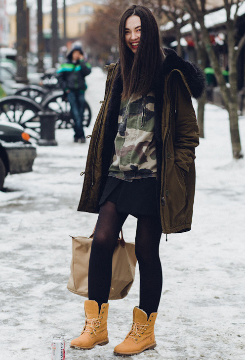 look invierno con Timberland