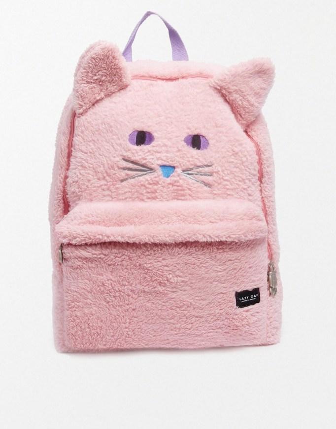 mochila rosa gato de Asos