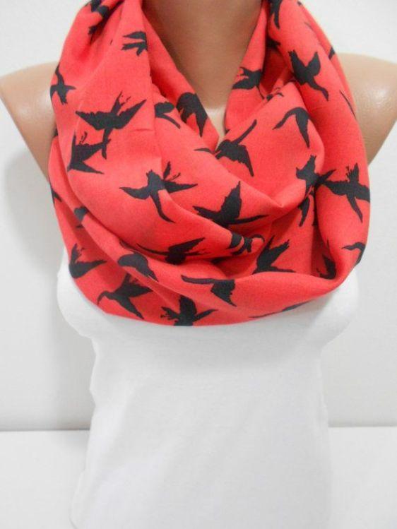 pañuelo estampado pájaros