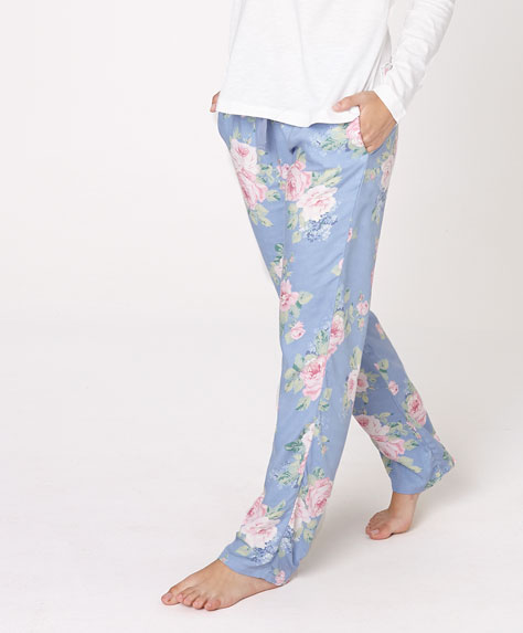 pantalón pijama flores Oysho