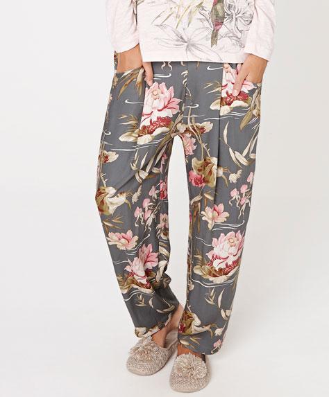 pantalón pijama flores