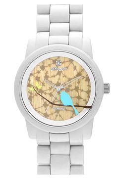reloj con pájaro