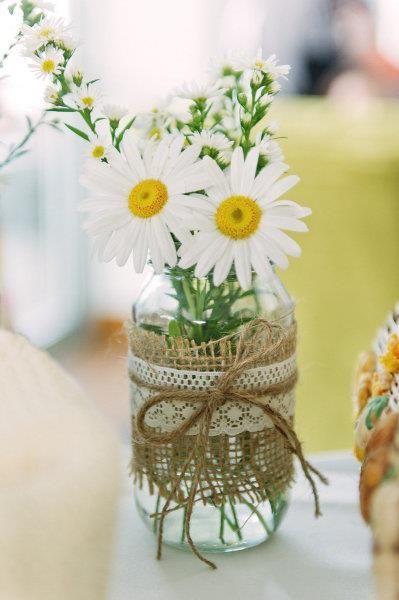 tarro cristal para flores