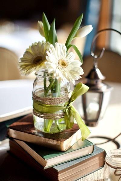 reciclado tarros cristal de florero
