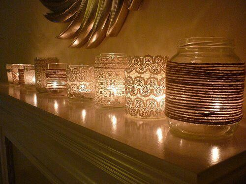 tarros cristal velas