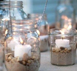 tarro cristal para velas
