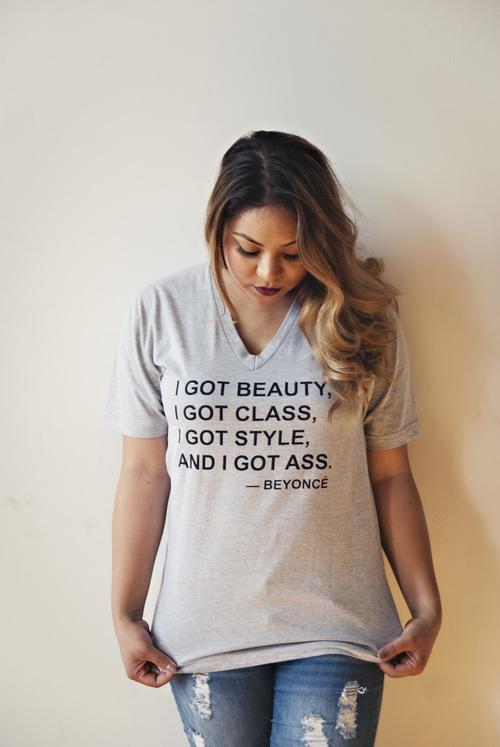 camiseta curvy con mensaje