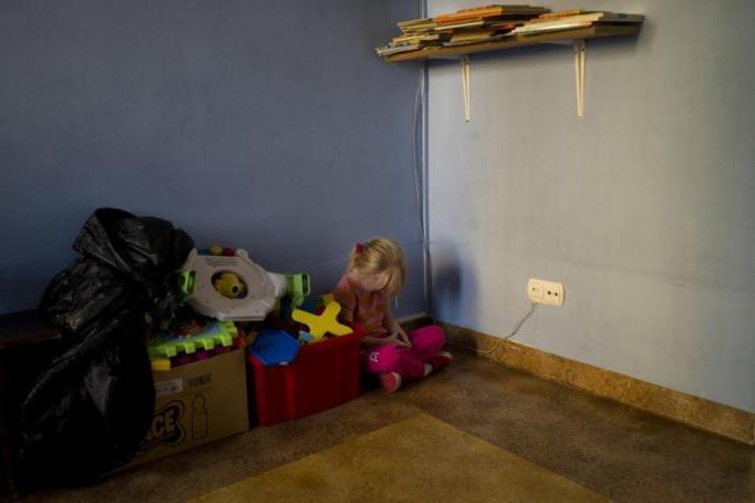 Foto en el orfanato