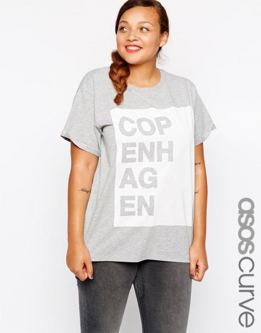 camiseta asos curve Copenhagen