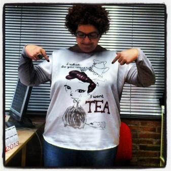 camiseta con mensaje talla grande
