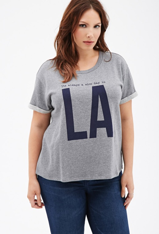 camiseta plus size LA