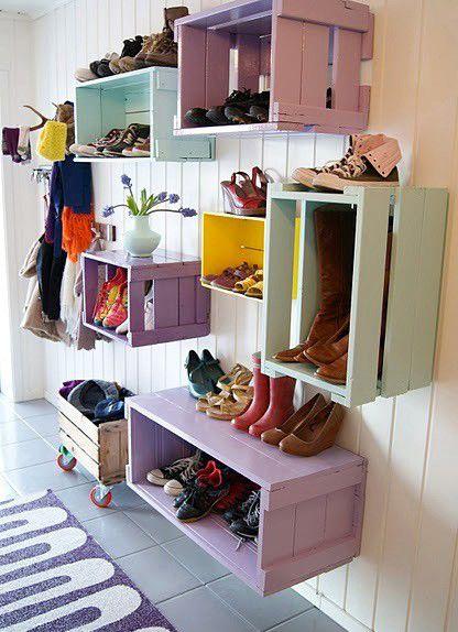 cajas madera recicladas zapatos