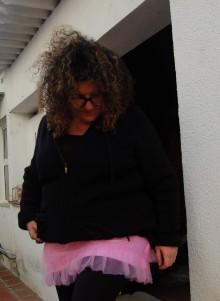 Boohooo falda rosa de tul