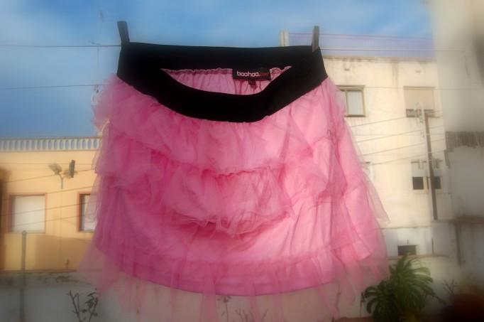 falda de tul boohoo