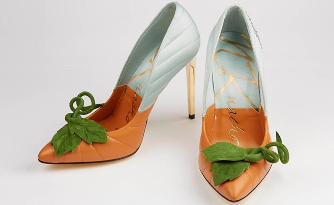 zapatos cenicienta de calabaza