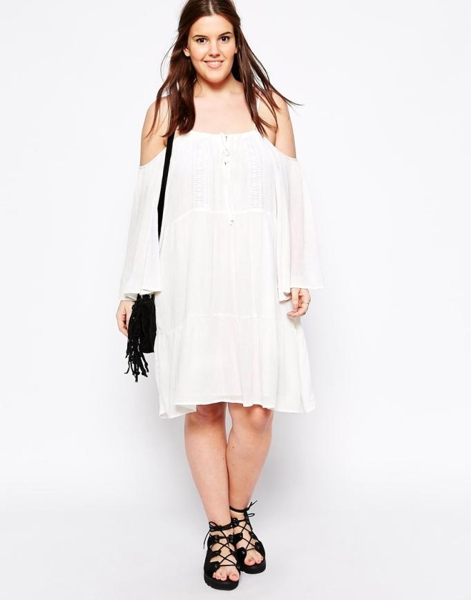 vestido boho blanco talla grande