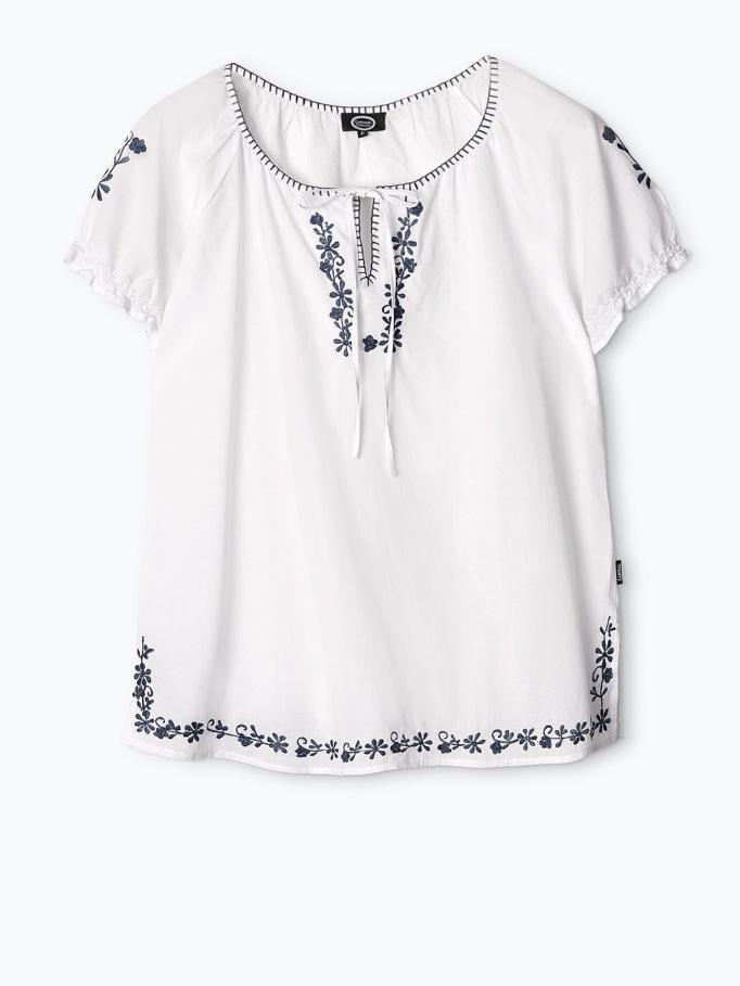 camisa bordada talla grande